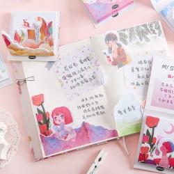 原創分層組合式便利貼 創意可愛造型N次貼 花朵少年系列便利貼