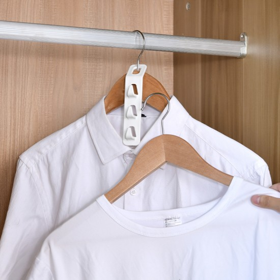 衣架連接掛勾 創意超省空間衣架掛鈎 自由組合衣架掛鉤 4入裝