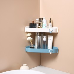 壁掛式三角置物架 浴室必備超省空間置物架 三角衛浴用品收納架