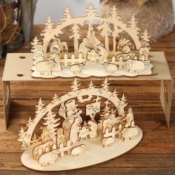 DIY聖誕節木質裝飾用品 創意立體木質裝飾用品 聖誕節必備擺設