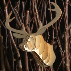 DIY木質組裝鹿頭裝飾 創意麋鹿頭裝飾用品 創意聖誕節必備牆面裝飾