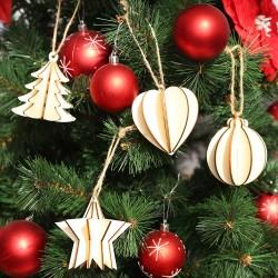 DIY聖誕樹立體吊飾 創意多款造型吊飾 聖誕節必備裝飾 吊飾