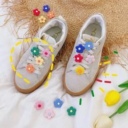 小清新花朵鞋扣 創意立體帆布鞋裝飾配件 可愛小花朵造型鞋帶裝飾