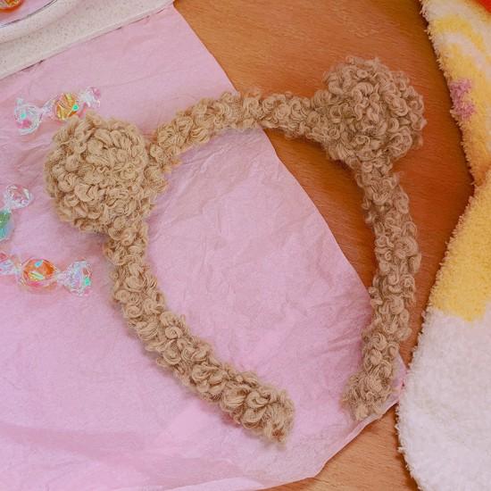 毛絨百搭造型髮箍 簡約造型洗臉髮箍 可愛熊耳朵造型髮箍