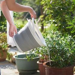 可折疊矽膠收納水桶 戶外必備收納桶 10L大號摺疊水桶