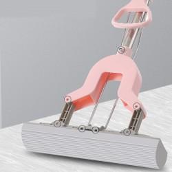 伸縮吸水海綿拖把 居家必備膠棉拖把 輕巧免手擰拖把 可替換頭