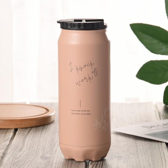 易開罐造型304不鏽鋼保溫杯 500ML 創意可樂汽水造型保溫杯 簡約環保保溫杯