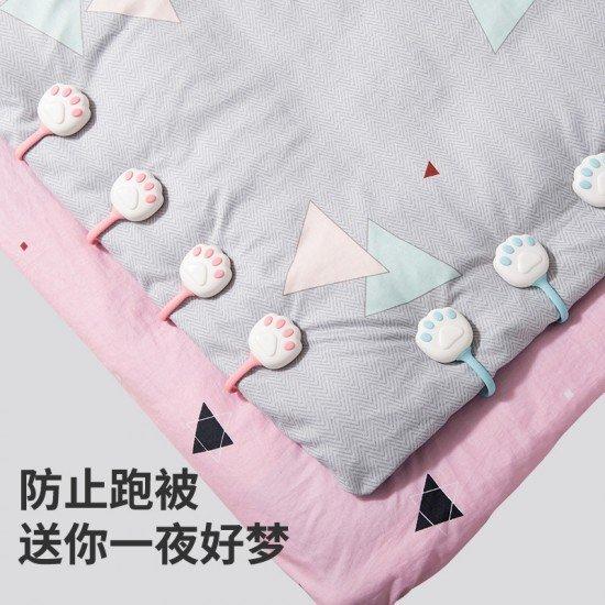 貓爪造型被角固定器 創意床單被子固定器 棉被四腳防滑卡扣