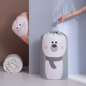 【團購買越多越便宜】圓筒型束口防塵袋 PEVA衣物棉被防塵收納袋 換季必備印花束口收納袋
