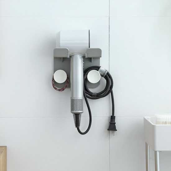 質感吹風機收納架 典雅吹風機掛勾置物架 免打孔壁掛吹風機支架