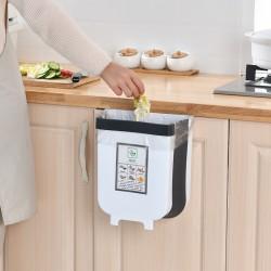 伸縮摺疊掛式垃圾桶 多功能家用懸掛式收納桶 廚房必備廚餘桶