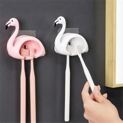 可愛造型牙刷架 浴室必備牙刷收納掛勾 創意造型雙格牙刷掛架