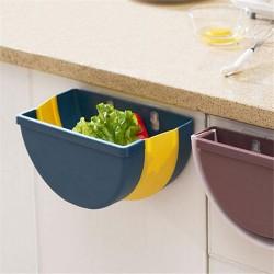 伸縮壁掛式垃圾桶 廚房垃圾桶 果皮雜物收納筒 可伸縮垃圾桶