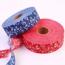 青花瓷裝飾布條 DIY手工材料裝飾 中國風布邊裝飾 100米布料裝飾