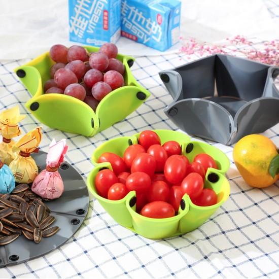創意可折疊矽膠碗 外出旅遊必備防摔餐具 超省空間水果盤 餐具