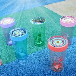 益智滾珠隨手杯 創意圓珠塑膠隨手杯 學生水壺 杯子