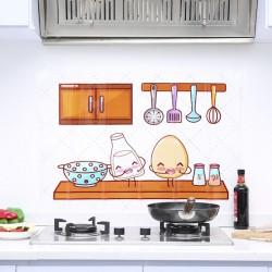 可愛圖案廚房防油貼 防油磁磚貼 廚房必備防油貼紙