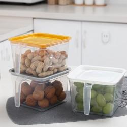 透明手柄保鮮盒 冰箱收納儲物盒 蔬菜水果保鮮盒 收納盒