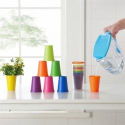旅行彩虹塑膠杯 創意大容量收納杯 塑膠杯7件組 戶外水杯 漱口杯