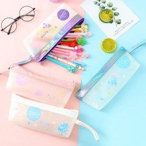 夢幻星球筆袋 創意學生大容量文具收納袋 拉鍊筆袋 文具用品