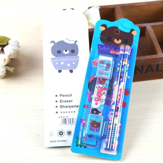 可愛學生文具5件組 文具組 學生文具組 可愛卡通兒童學習用品 小禮品