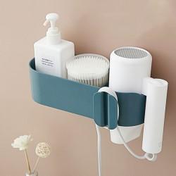 壁掛式吹風機架 創意浴室吹風機置物架 浴室多功能置物架