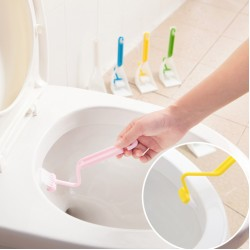 S型馬桶死角清潔刷 浴室必備縫隙刷 底座洗馬桶刷 刷子