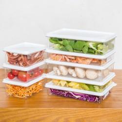 透明塑膠保鮮盒 廚房必備冰箱保鮮盒 長方形多尺寸儲物盒