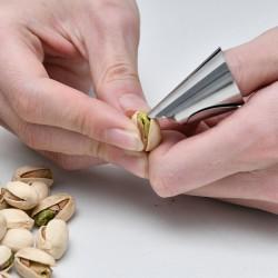 剝毛豆神器 創意不鏽鋼指甲套 剝殼工具 堅果剝殼神器