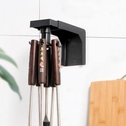 可伸縮旋轉掛勾 廚房必備鍋鏟湯勺置物架 壁掛式收納掛架