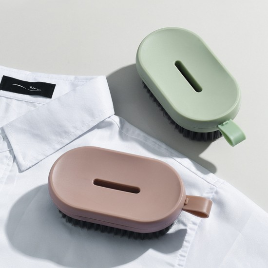 多用途瀝水清潔刷 壁掛式肥皂盒 簡約洗鞋刷 洗衣刷