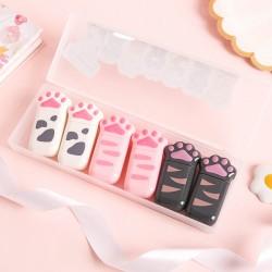 可愛貓爪造型修正帶 療癒造型文具 創意造型立可帶 學生文具 6個裝