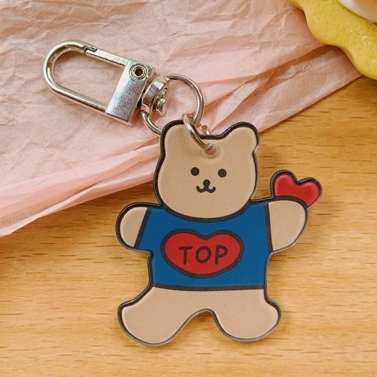 可愛造型吊飾 吊墜式小熊狗狗蔬菜吊飾 壓克力造型鑰匙圈