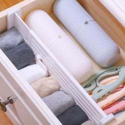 伸縮式抽屜隔板 多功能塑膠檔板 衣櫃抽屜收納分隔板 整理神器