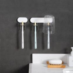 壁掛式牙刷杯架 創意洗漱用品置物架 牙刷掛勾 漱口杯掛架