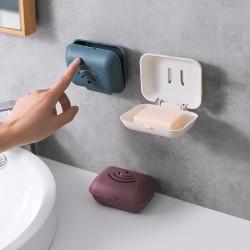 壁掛式香皂盒 卡扣設計肥皂盒 浴室必備瀝水肥皂收納盒