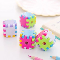 方塊造型削筆器 簡約造型魔術方塊削鉛筆器 創意造型手動削筆器