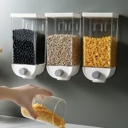 壁掛式雜糧密封罐 透明按壓零食儲物罐 收納罐