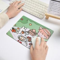 可愛女孩滑鼠墊 創意橡膠防滑材質滑鼠墊 可愛兔兔女孩圖案滑鼠墊