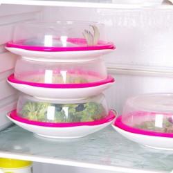 多用途密封保鮮蓋 碗盤保鮮蓋 可微波食物保鮮蓋 矽膠圈食物蓋