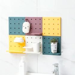 創意多功能洞洞板 DIY組合搭配置物架 創意牆面收納架 收納整理架
