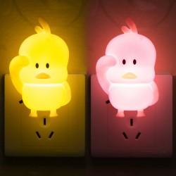 可愛小鴨造型小夜燈 創意造型LED開關小夜燈 柔光小夜燈