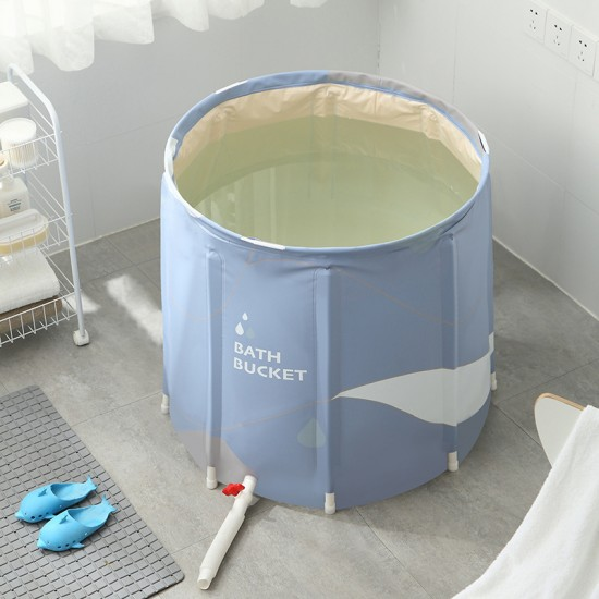[館長大推]可折疊泡澡桶創意家用超大沐浴桶浴缸 居家必備泡澡神器