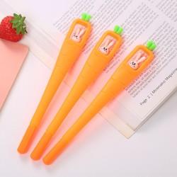 兔子胡蘿蔔中性筆 創意胡蘿蔔造型中性筆 可愛小兔子原子筆 辦公文具 學生文具