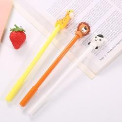 動物造型中性筆 可愛長頸鹿獅子小牛造型中性筆 辦公文具 學生文具