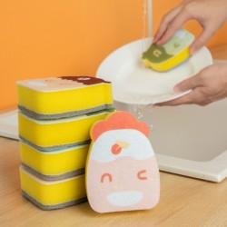 造型雙面菜瓜布 可愛圖案海綿菜瓜布 雙面去汙清潔海綿 廚房洗碗刷 洗鍋刷