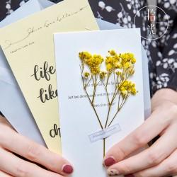 乾燥花卡片 創意手帳必備乾燥花賀卡 小清新多用途小花裝飾卡片