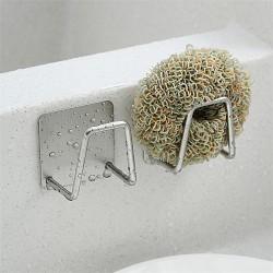 水槽不鏽鋼置物架 不鏽鋼海綿瀝水架 多功能瀝水置物架 菜瓜布架
