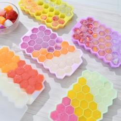 蜂巢造型製冰盒 創意37格六邊形製冰模型 創意矽膠製冰盒