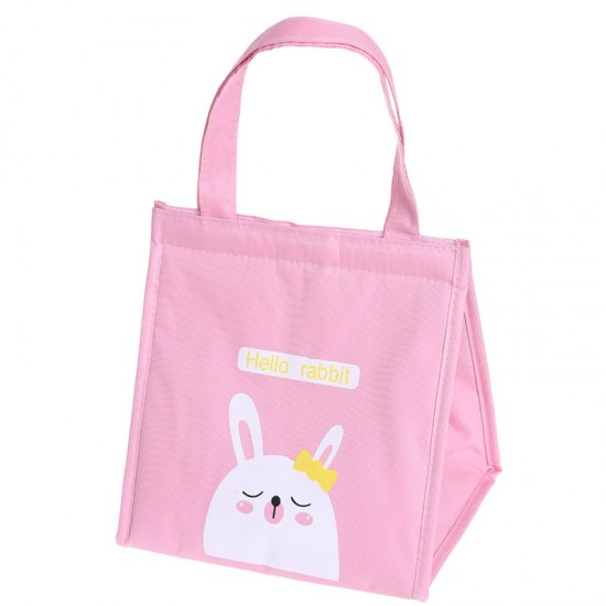 手提保溫便當袋 可愛動物圖案保溫保冰袋 創意手提野餐包 手提袋